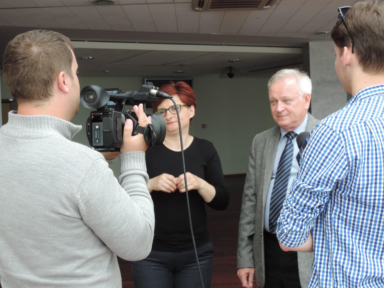 Wystąpienie rektora Piechockiego - wywiad dla TV Kortowo