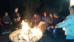 Spływ kajakowy - ognisko