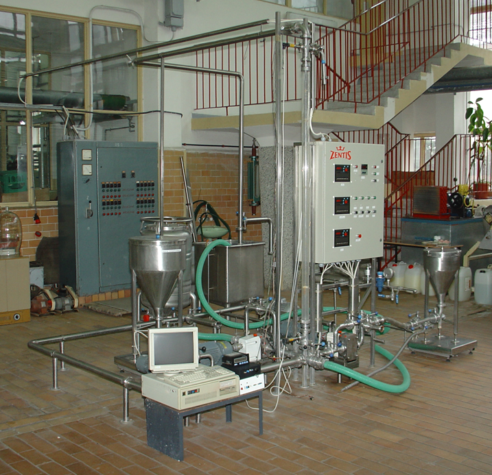 Stanowisko do badań mieszania produktów płynnych z dodatkami