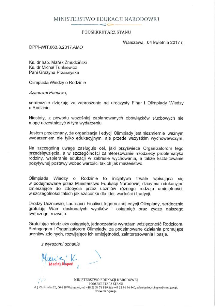 list-ministra-edukacji-narodowej