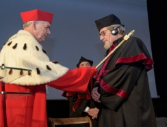 prof. Blarr, an honorary doctor at UWM, Nowowiejski