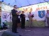 Wręczanie nagród laureatom konkursu Walory Marketingowe Stoiska - od lewej; Mirosław Fesnak - komisarz wystawy rolniczej, Zdzisław Kamiński - zastępca dyrektora W-MODR, Bolesław Pilarek - przewodniczący komisji konkursowej